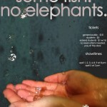 "Poster Design for Eckerd College's Production of ""Rain. Some Fish. No Elephants."""